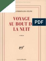 Celine Voyage Au Bout de La Nuit