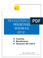 REVALORIZACION MINIMAS 2012
