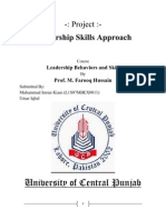 Project_Leadership Skill Approach