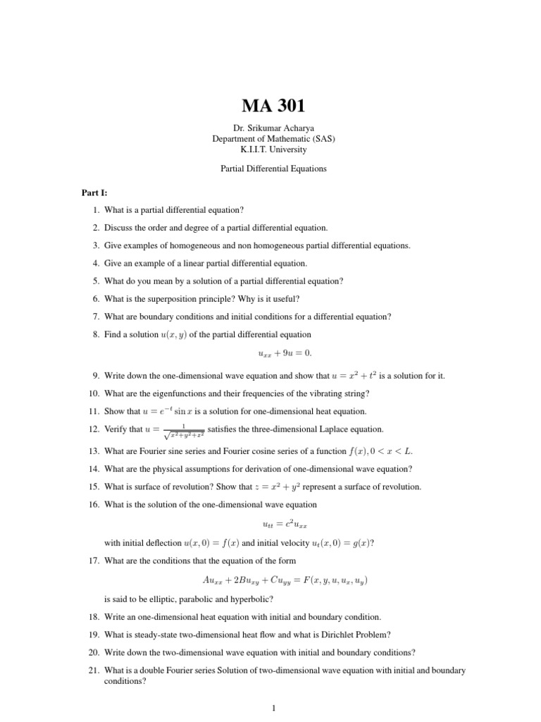 Math 3 | Wave Equation | Differential Equations
