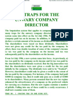 Tax Traps for the Unwary Company Director
