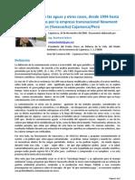 Dossier. Inviabilidad del proyecto minero Conga. Ing. Reinhard Seifert