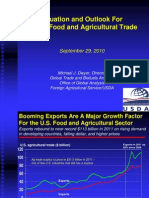 Food and Agricultural Export Outlook in the Global Economy