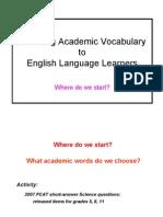 Academic Vocab - Maggart