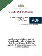 Droit Des Societes