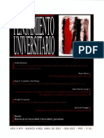 Pensamiento Universitario, nº 09, 2001