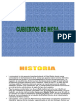 HISTORIA DE LOS CUBIERTOS