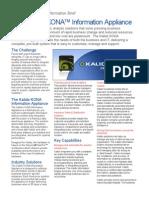 Data Sheet 2010 Kalido - KONA Information Appliance