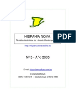 Hispania Nova, nº 05, 2005 - Siglos XIX, XX