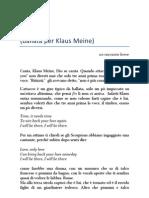RIFF - Ballata per Klaus Meine