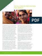 Delivering Cervical Cancer Prevention in the Developing World