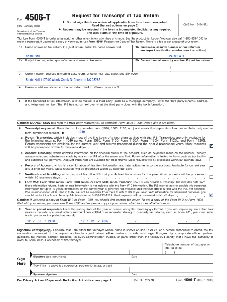 f4506t   Irs Tax Forms   Internal Revenue Service