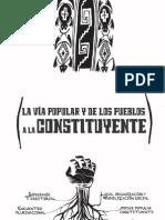 La via Popular y de Los Pueblos a la Constituyente