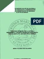 Estrategias de mejora para la captura, procesamiento y análisis de información bioestadistica