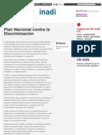 Plan Nacional contra la Discriminación _ Inadi