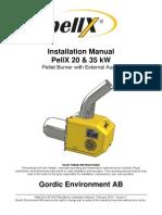 PellX 20 35 kW Pellet Burner Installation Manual US V1