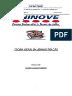 TEORIA GERAL DA ADMINISTRAÇÃO - PROFESSOR  VAGNER CAVALCANTI RIBEIRO