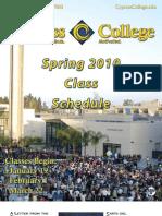 2010 CC Spring Schedule
