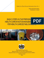 Basic Steps in the Prep of HCWM for Health Care Establishments WHO