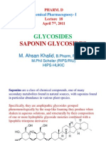 Lect 18 - Saponin Glycosides [Compatibility Mode]