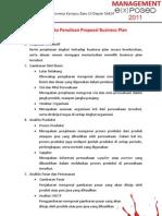 Sistematika Penulisan Proposal Business Plan