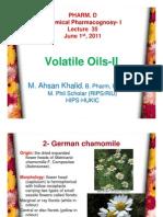 Lecture 35 - Volatile Oils-II [Compatibility Mode]