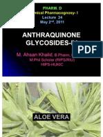 Lecture 24 - Anthraquinone Glycosides