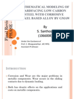 Mathematical Modeling of Hard Facing Low Carbon Steel With Corrosive Nickel Based Alloy by Gmaw