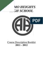 Alamo Hight - Course Description Book 2011 2012