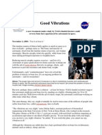 Good Vibrations, A NASA funded Research Study