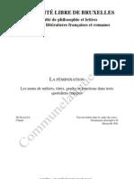 Feminisation Dans La Presse Francaise