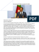 Message de Paul Biya a La Nation 31-12-2011