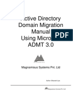 Active Directory Domain Migration Using ADMT Tool1