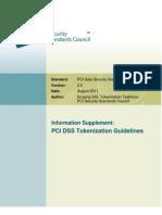 Tokenization Guidelines Info Supplement