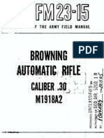 Browning BAR - FM 23-15 Field Manual - Browning Automatic Rifle Caliber 30 Model 1918A2 - 1951