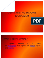 Sports Writng or Sports Journalism