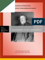 Bibliografía de Chesterton en español.- José Antonio Hernández García