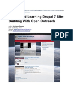 Get Started Learning Drupal 7 Site Building  With Open Outreach