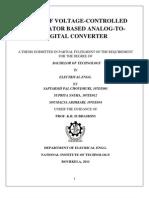 Study of Voltage-controlled Oscillator Based Analog-To-digital Converter