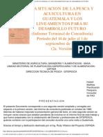 Situacion de La Pesca y Acuicultura en Guatemala