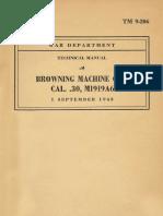 Browning Machine Gun Cal .30 - TM 9-206 Browning Machine Gun Cal 30 M1916A6 - 1943 01