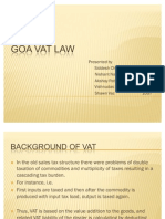 Goa VAT Law