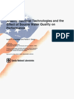 Arsenic Removal Technologies and the Effect of Source Water Quality on Performance
