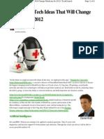 6 Big Tech Health Ideas 2012