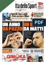 Gazzetta dello Sport - 02/01/2012