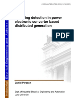 5232 Islanding Detection in Power Electronic Converter Based Distributed Generation