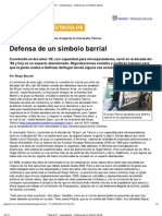 Defensa de símbolos barriales-identidad