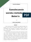 BOB FINGERBILD - Samoleczenie wzroku metodą dr Bates'a