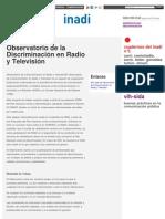INADI POLITICAS - Observatorio de la Discriminación en Radio y Televisión _ Inadi