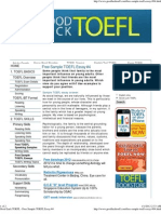 Good Luck TOEFL - Free Sample TOEFL Essay #4